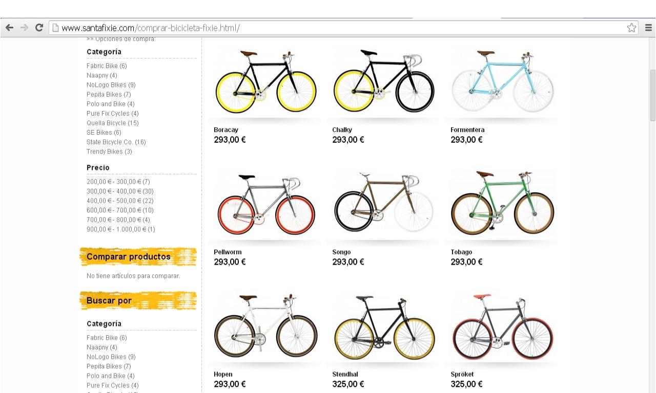 Bicicletas Santa Fixie
