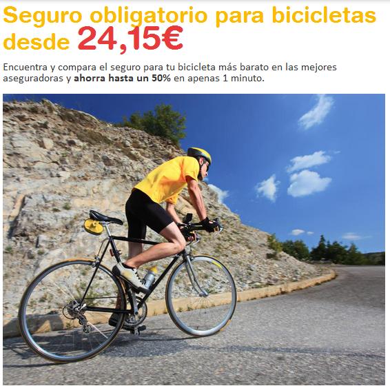 Seguros obligatorio de bici biciplan