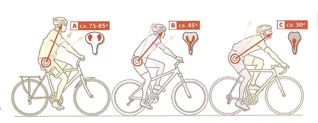 Posición de los hombros y la postura en la bicicleta. Biciplan