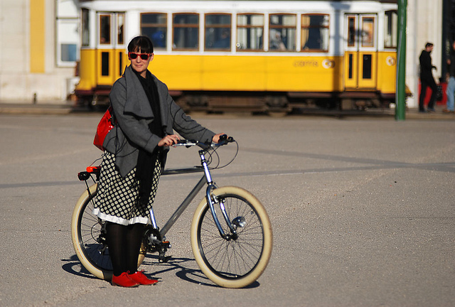 Lisboa en bici Fuente: pedais.pt