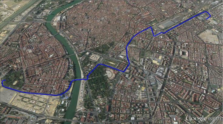 Ruta Parque de los Príncipes Fuente: http://www.cicloscabello.com/afilador/sevilla-sobre-ruedas-2015/