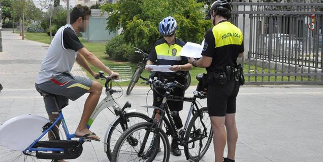 Multas en bicicletas Fuente: www.palmaenbici.com